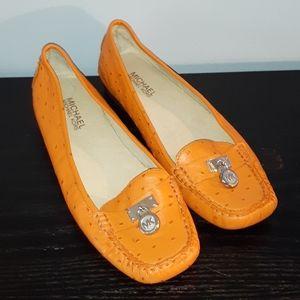 Michael Kors Orange Hamilton Loafer Flats Size 9